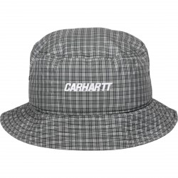 BOB CARHARTT WIP ALISTAIR BUCKET HAT - CHECK SILVER