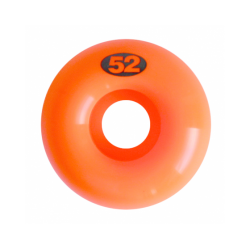 ROUES NAKED WHEELS ORANGE NEON - 52MM