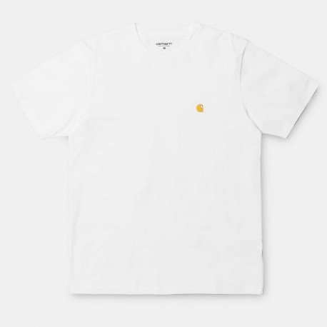 T-SHIRT CARHARTT WIP CHASE - WHITE GOLD