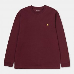 T-SHIRT CARHARTT WIP CHASE LS - BORDEAUX GOLD