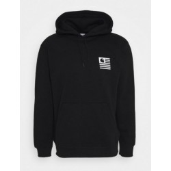 SWEAT CARHARTT HOODED WAVING STATE FLAG - BLACK WHITE