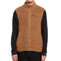 VESTE VOLCOM X GIRL SKATEBOARDS VEST - TOBACCO