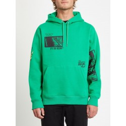 SWEAT VOLCOM HOOD BITS OF BRAIN PO - SCAROMATIC GREEN