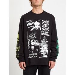 T-SHIRT VOLCOM BITS OF BRAIN BSC LS - BLACK