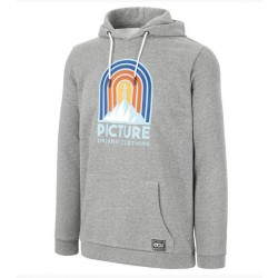 SWEAT PICTURE ORGANIC ROSSWOOD HOODIE - DARK GREY MELANGE