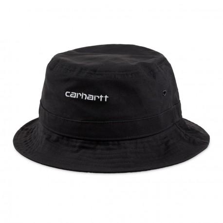 BOB CARHARTT WIP SCRIP BUCKET HAT - BLACK WHITE