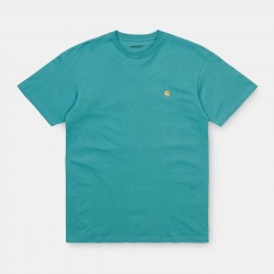 T-SHIRT CARHARTT WIP CHASE - FROSTED TURQUOISE GOLD