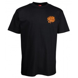 T-SHIRT SANTA CRUZ SALBA TIGER HAND - BLACK