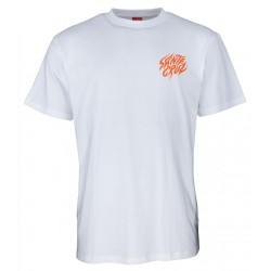 T-SHIRT SANTA CRUZ SALBA TIGER HAND - WHITE