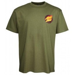 T-SHIRT SANTA CRUZ FLAMING JAPANESE DOT - ARMY GREEN
