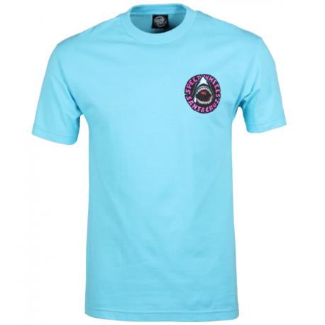 T-SHIRT SANTA CRUZ SPEED WHEELS SHARK - PACIFIC BLUE