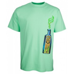 T-SHIRT SANTA CRUZ SPEED WHEELS SNAKE OIL - JADE GREEN
