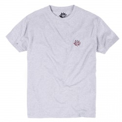 T-SHIRT MAGENTA PLANT FLAG - ASH HEATHER