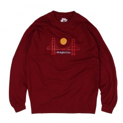 T-SHIRT MAGENTA SF GOLDEN GATE LS - BURGUNDY