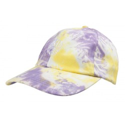 CASQUETTE SANTA CRUZ MAKO DOT - YELLOW PURPLE FOLD DYE
