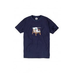 T-SHIRT MAGENTA BOOK TEE - NAVY