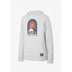 SWEAT PICTURE ORGANIC ROSS HOODIE KIDZ - GREY MELANGE