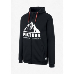 SWEAT PICTURE ORGANIC KEMANO ZIP HOOD - BLACK