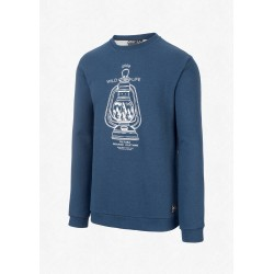 SWEAT PICTURE ORGANIC APPLETON CREW - DARK BLUE MELANGE