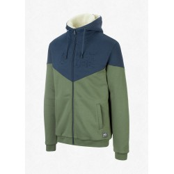 SWEAT PICTURE ORGANIC BASEMENT PLUSH ZIP HOOD - ARMY GREEN