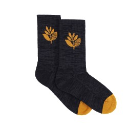 CHAUSSETTES MAGENTA PLANT SOCKS - BLACK HONEY