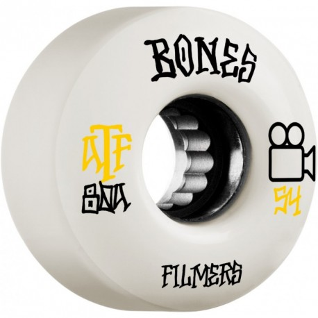 ROUES BONES ATF FILMERS 54MM 80A - WHITE
