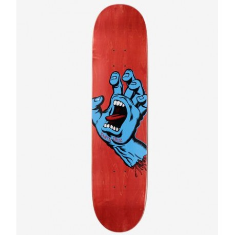 BOARD SANTA CRUZ SCREAMING HAND RED MATTE - 8.0