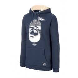 SWEAT PICTURE ORGANIC PINECLIFF HOOD - DARK BLUE