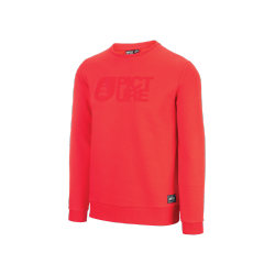 SWEAT PICTURE ORGANIC BASEMENT FLOCK CREW - RED