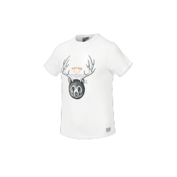 T-SHIRT PICTURE ORGANIC HORNS - WHITE