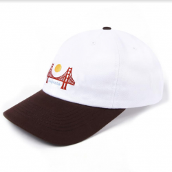 CASQUETTE MAGENTA SF DAD HAT - WHITE BROWN