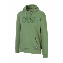 SWEAT PICTURE ORGANIC BASEMENT FLOCK HOOD - ARMY GREEN
