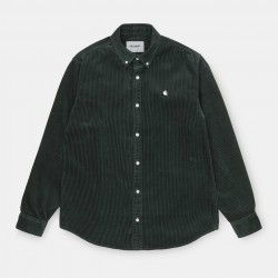 CHEMISE CARHARTT WIP MADISON CORD LS - DARK TEAL WAX