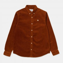 CHEMISE CARHARTT WIP MADISON CORD LS - BRANDY WAX