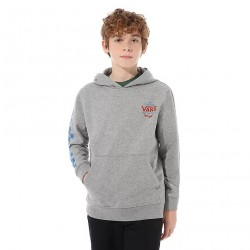SWEAT VANS BOY HOODIE DISJUNCTION - CEMENT HEATHER