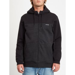 SWEAT VOLCOM SINGLE STONE DIV ZIP - HEATHER BLACK