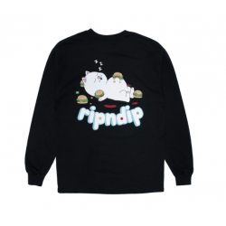 T-SHIRT RIPNDIP FAT HUNGRY BABY LS - BLACK