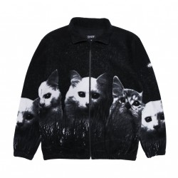 VESTE RIPNDIP FIELDS OF CATS SHERPA JACKET - BLACK
