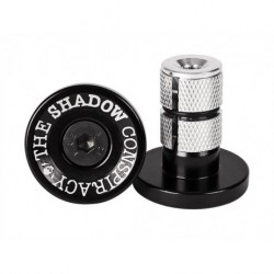 EMBOUT DE GUIDON METAL TSC SHADOW DEADBOLT - BLACK