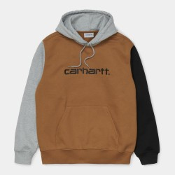 SWEAT CARHARTT WIP TRICOL HOODED - HAMILTON BROWN