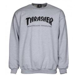 SWEAT THRASHER SKATE MAG CREW - GREY