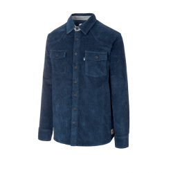 CHEMISE PICTURE ORGANIC GRAFTONS CORDUROY - DARK BLUE