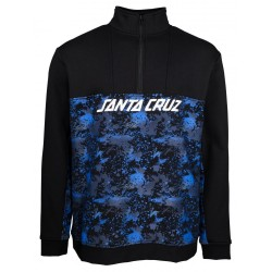 SWEAT SANTA CRUZ ASTRO 1/4 ZIP CREW - BLACK SPLATTER