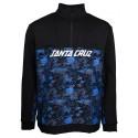 SWEAT SANTA CRUZ ASTRO 1/4 ZIP CREW - BLACK SPLATTER