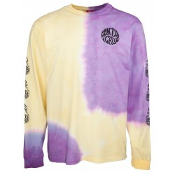 T-SHIRT SANTA CRUZ MAKO LS - YELLOW PURPLE FOLD DYE