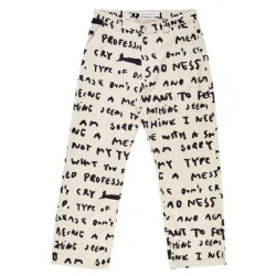 PANTALON POLAR 40'S PANTS SAD NOTES - IVORY