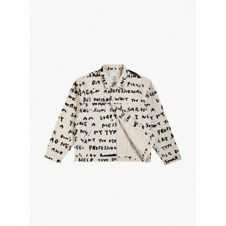 VESTE POLAR JEAN JACKET SAD NOTES - IVORY