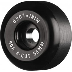 ROUES MINI LOGO WHEELS (JEU DE 4) 55MM A-CUT 2 90A HYBRID - BLACK