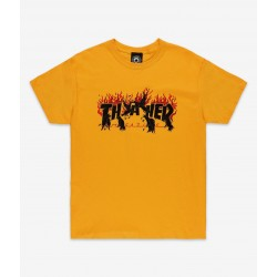 T-SHIRT THRASHER CROWS - GOLD