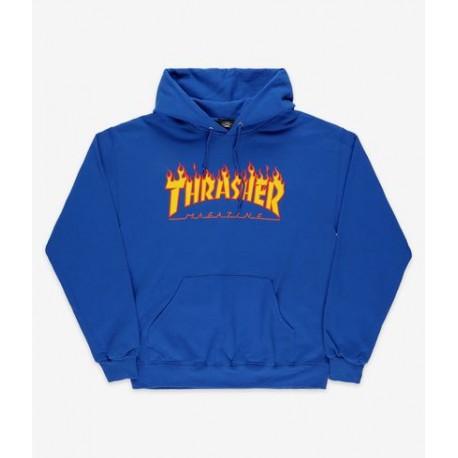 SWEAT THRASHER FLAME HOOD - ROYAL